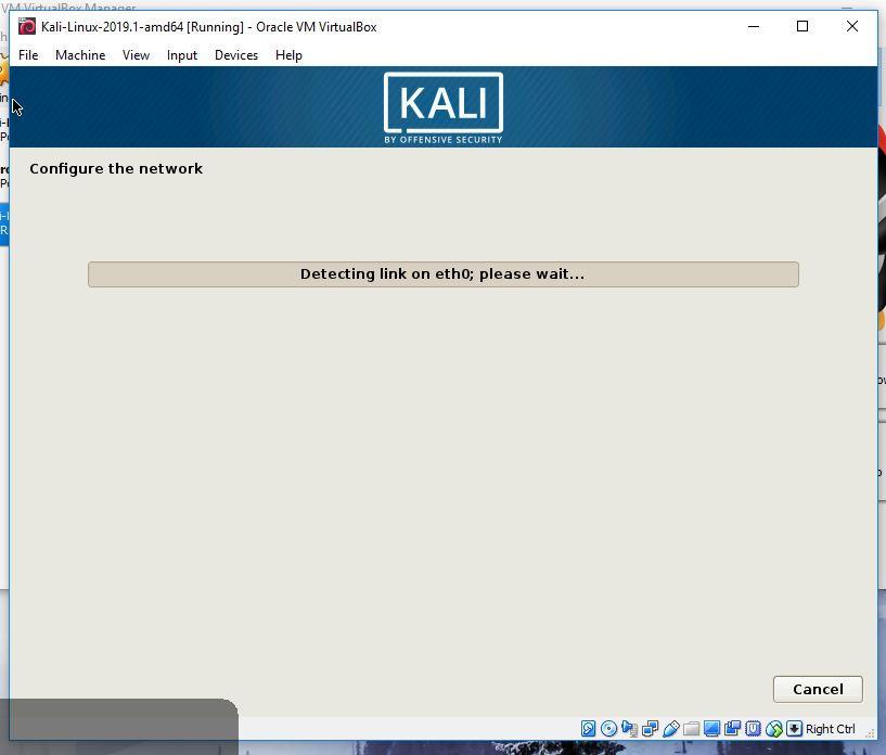 Kali network configuration