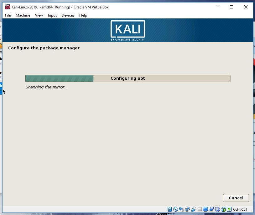 Kali package manager