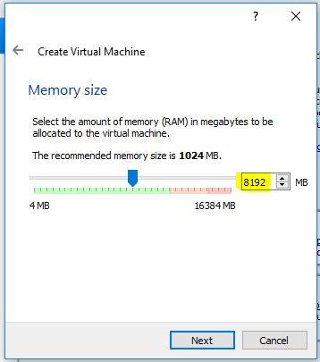 Memory size selection