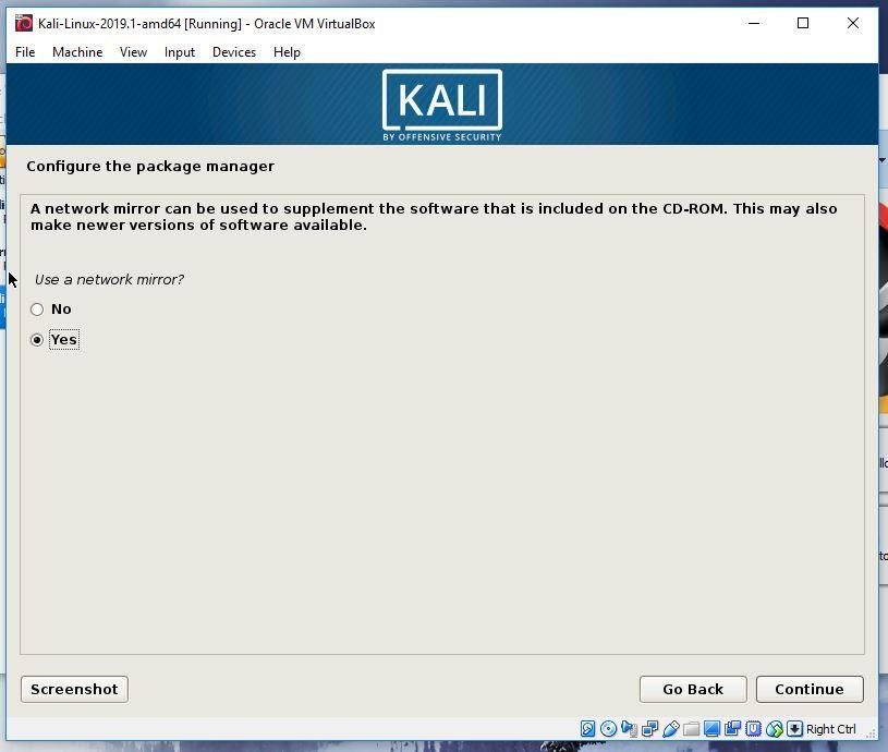 Kali network mirror