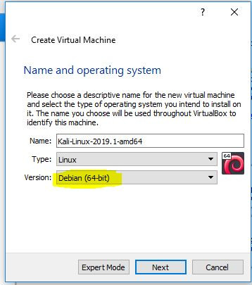 Name and operating system of guest virtual machine.