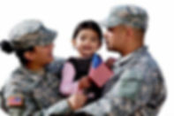 military family in uniform