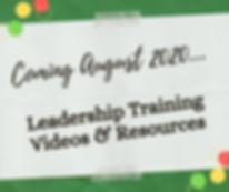 Leadership Training Coming Soon Graphic.