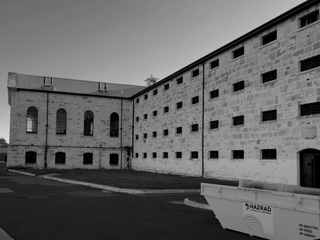 Our bin doing it tough on a World Heritage Listed Site - Fremantle Prison!