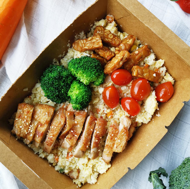 Teriyaki Chop With Cauliflower Rice