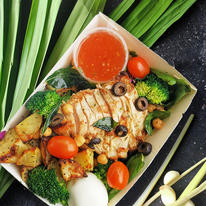 Lemongrass Pandan Chicken with Potatoes