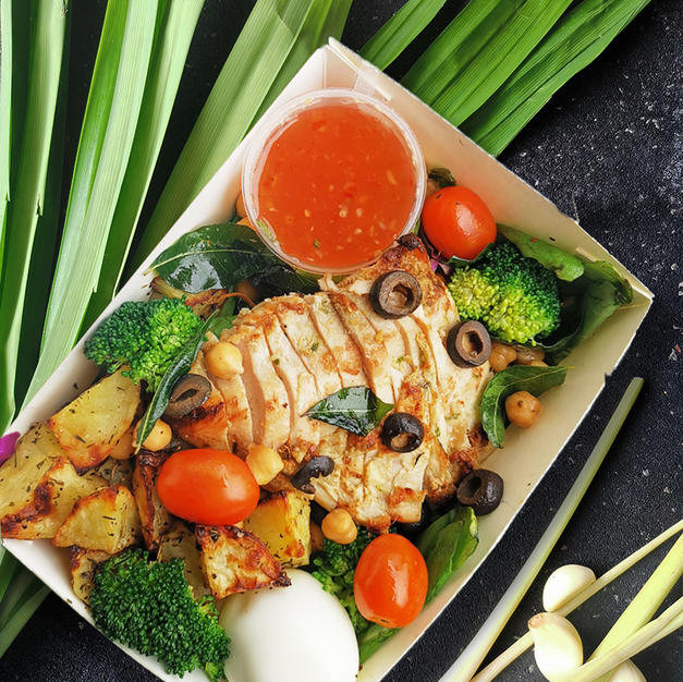 Lemongrass Pandan Chicken with Potatoes