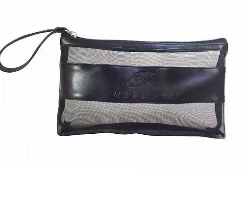 MYBROWS             TRANSPARENT BLACK COSMETIC MAKE UP BAG