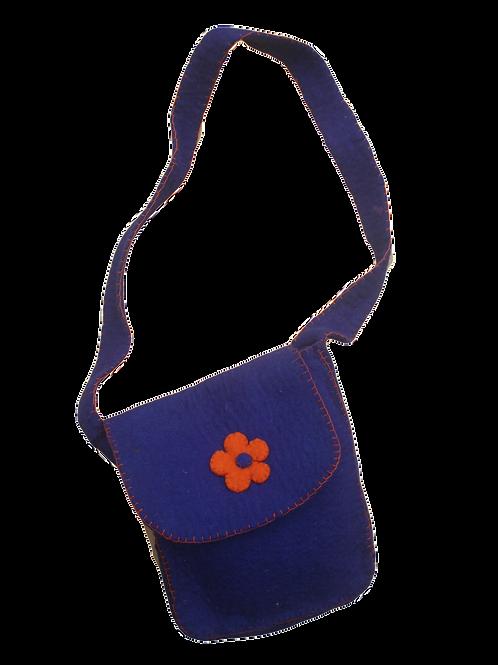 Funky Felt Orange Flower Bag
