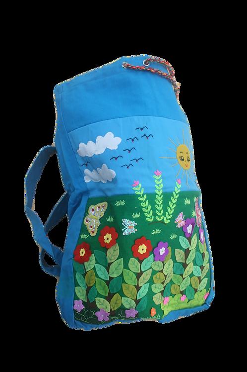 Appliqué Child's Drawstring Backpack