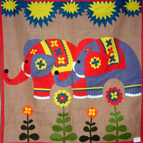 Elephant Wall Hanging - Applique