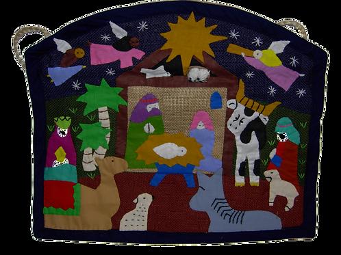 Applique Nativity Wall Hanging