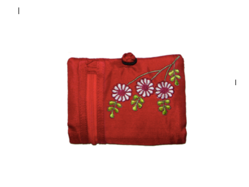 Daisy Embroidered Purse