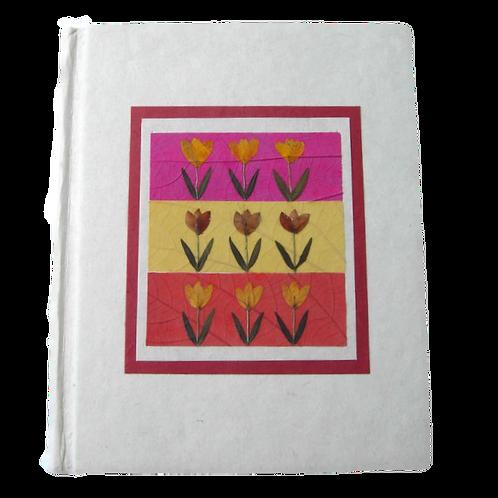 Floral Handmade paper Journal