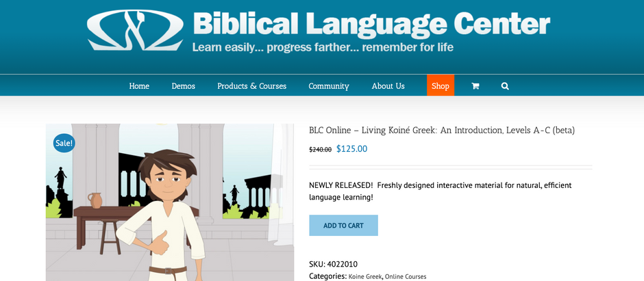 KoineGreek.com Podcast: Biblical Language Center's new Living Koine Greek Curriculum