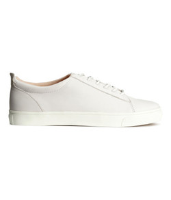 H&M WHITE LEATHER