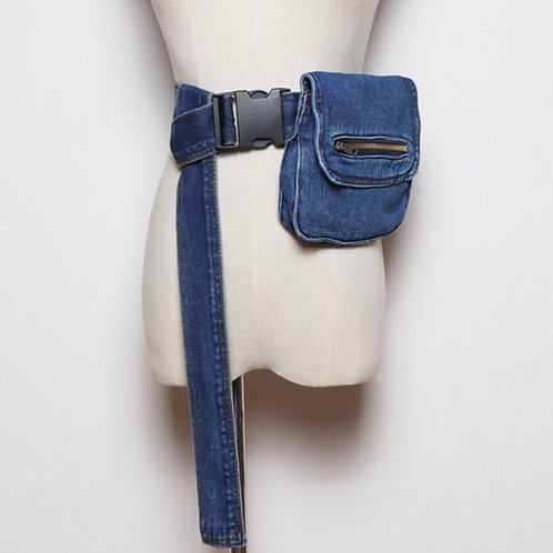 Jean Fanny pack with long strap