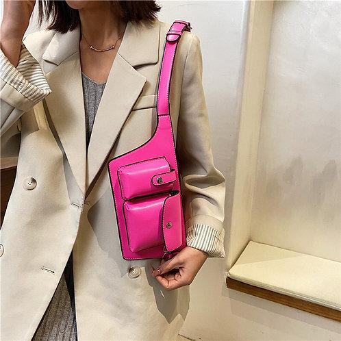 Neon Leather Belt Bag