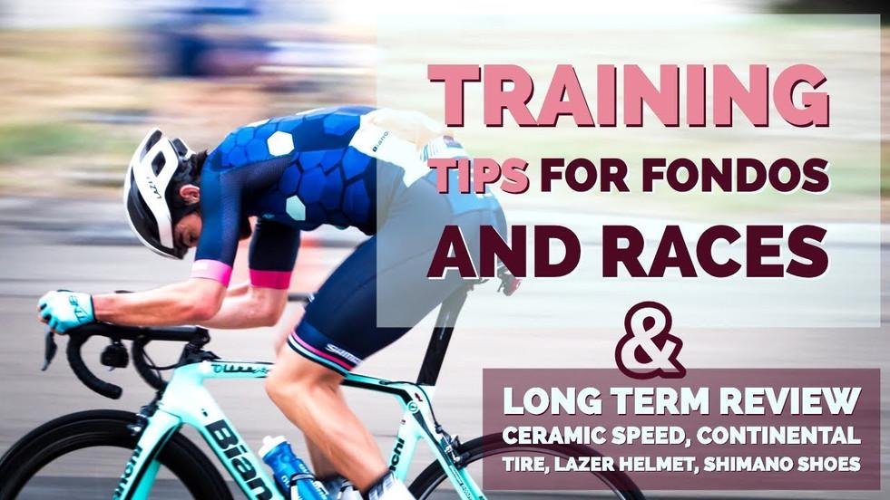 Cycling Training Plan Basics & Tips - Fondos, Climbing, Races, Endurance, Food, Videos