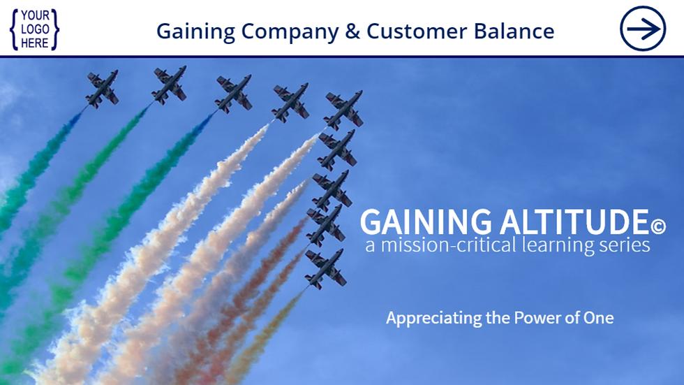 Gaining Company and Customer Balance eCourse