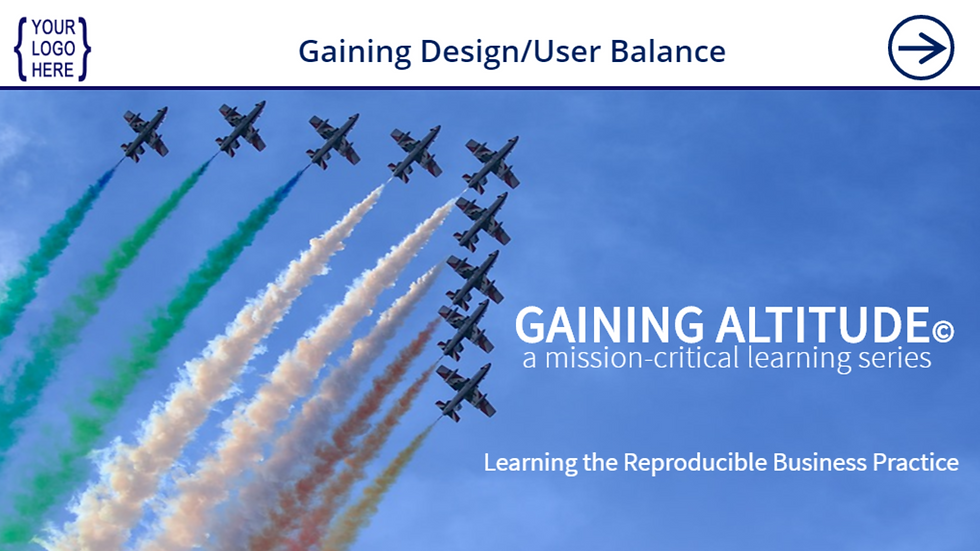 Gaining Design/User Balance eCourse