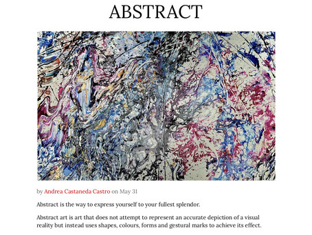 An Abstract is not an exact form or shape