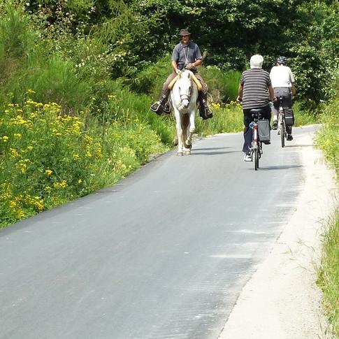 Aangenaam fietsen weg van de drukte.