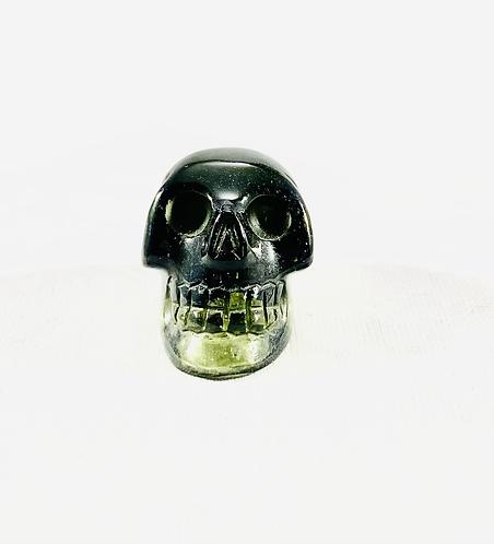 Moldavite Skull