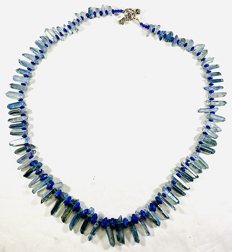 Aqua Aura with Lapis Necklace