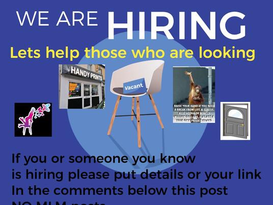 Who's hiring