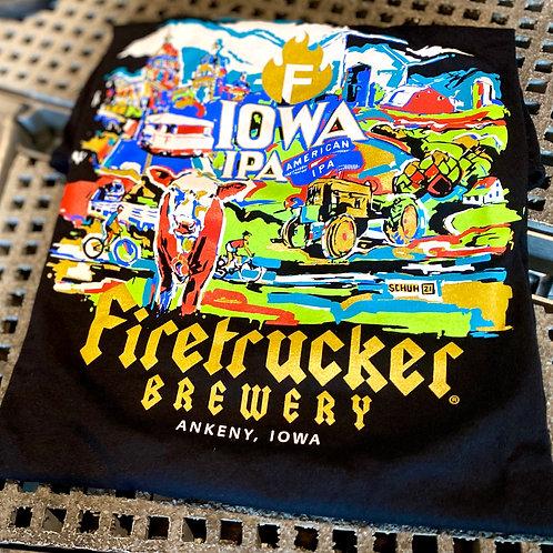 FIRETRUCKER IOWA T-SHIRT