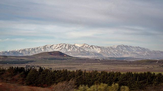 A #dramatic #Golan Heights view of #snow