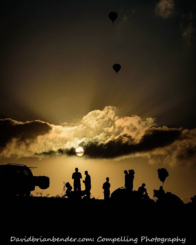 Early #dawn at an annual #hotairballoon