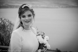 A glowing #Jewish #bride beams with her
