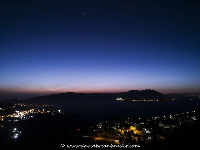 'Deep Sunset' - #Safed, Mt. Meron, and #