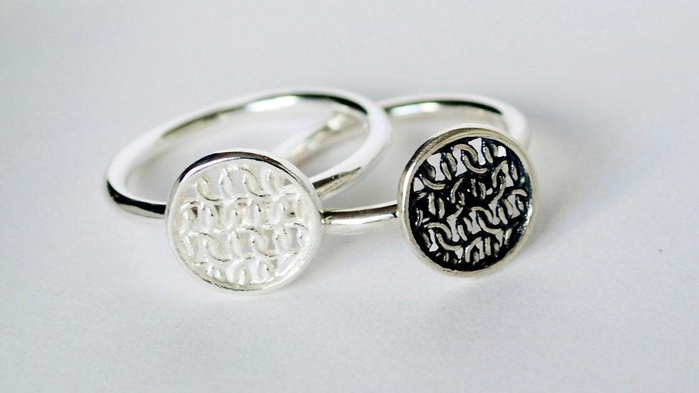 Silver Tiny Circular Ring
