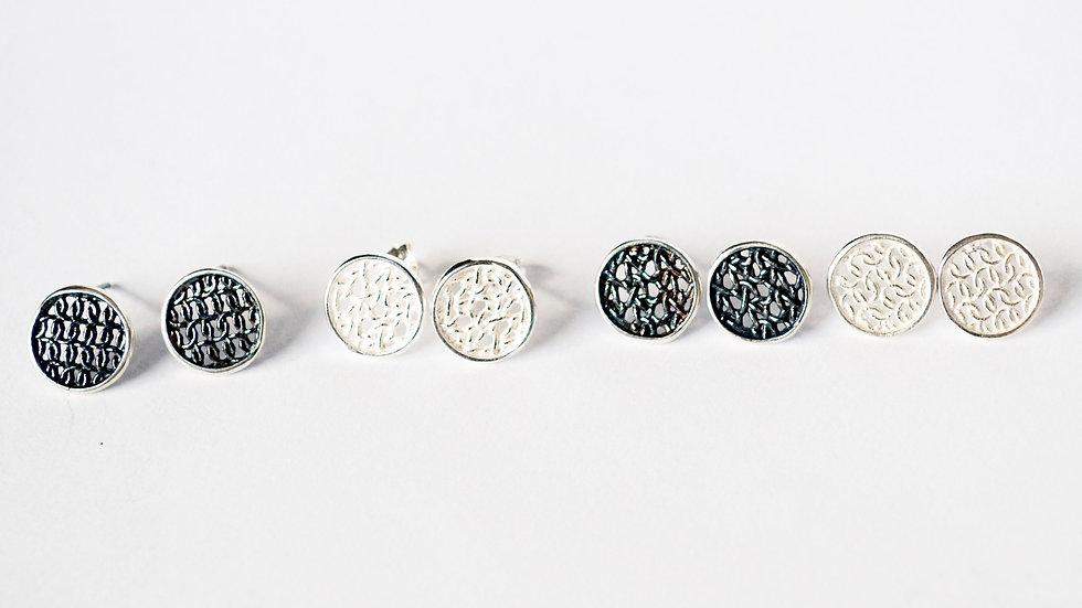 Silver Tiny Circular Studs