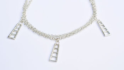 Silver Ladder Charm Bracelet