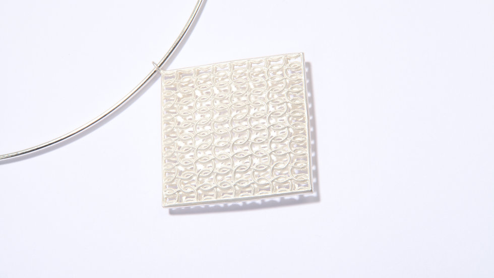 Large Square Double Domed Choker