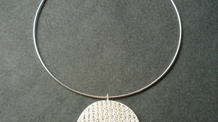Large Circular Double Domed Choker