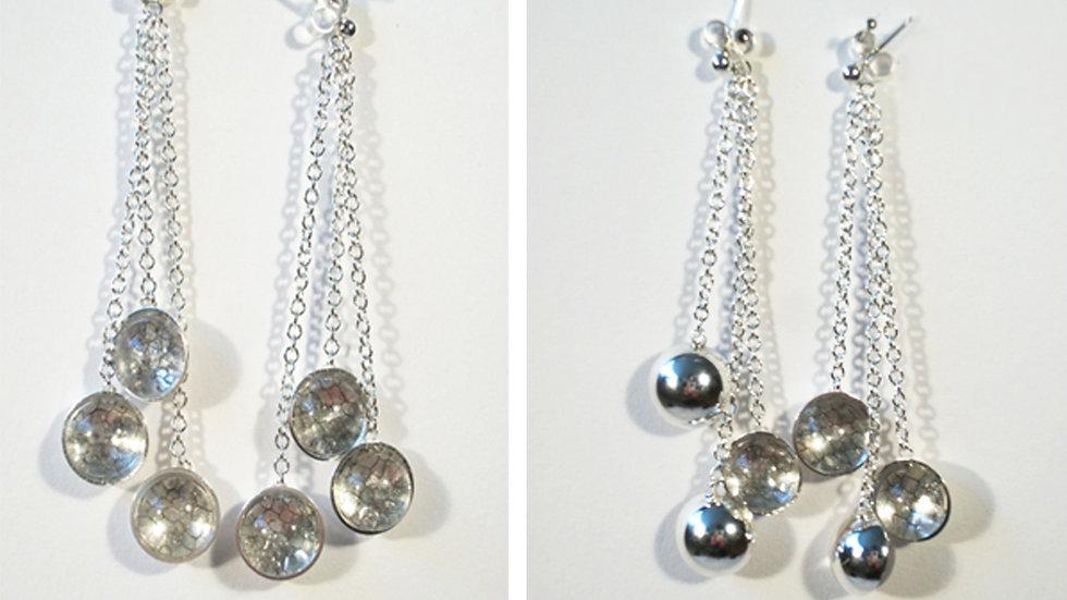 3 Tier Drop Earrings
