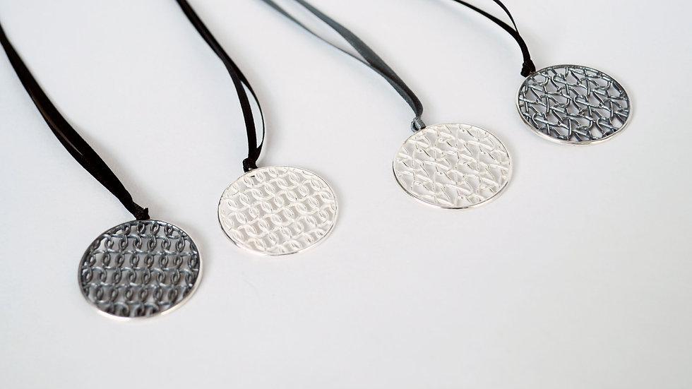 Silver Flat  Circular Pendant