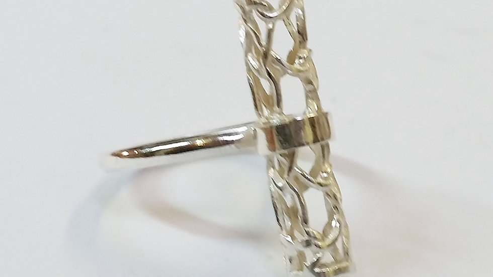 Sterling Silver Cylindrical Ring