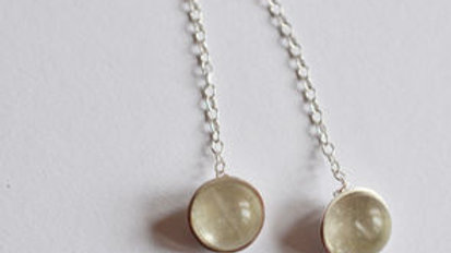 Silver Single Drop Earrings