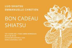 Bon cadeau Luo shiatsu Emmanuelle Chrétien