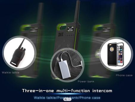 Funkgerät, Powerbank und Smartphonecover in einem