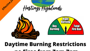 DAYTIME FIRE BAN - as of July 17th