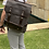 Thumbnail: ShirtStory Satchel Canvas With Leather BackPack