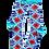 Thumbnail: Neon Flowers Shirt Club Socks