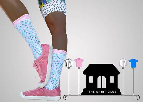 Pin Stripy Shirt Club Socks